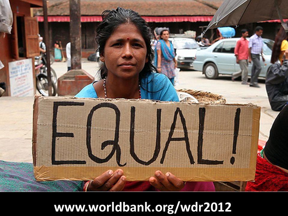 EQUAL ! www.worldbank.org/wdr2012