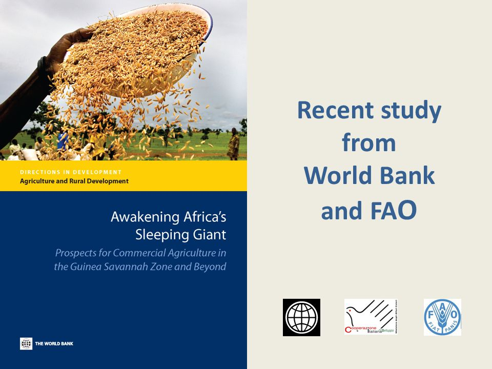 Recent study from World Bank and FA O