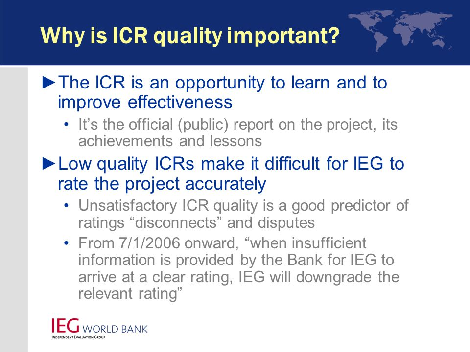 Why is ICR quality important.