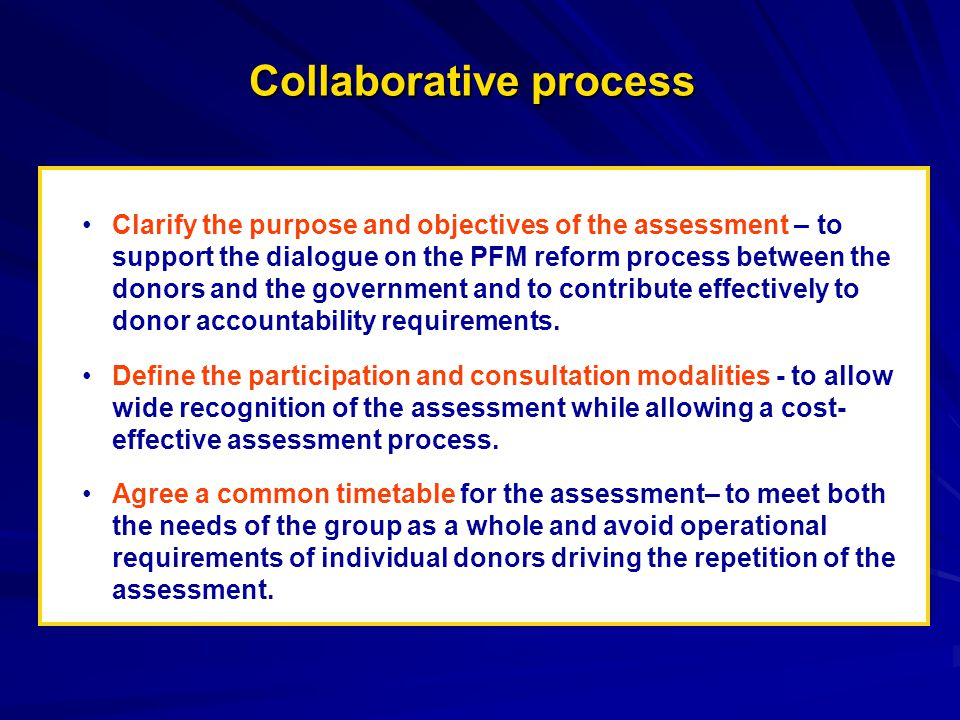 Important Steps to be taken GOVERNMENTGOVERNMENT Workshop Field Mission Quality Review Workshop Draft Final Draft Inception Report Initial Work DONORS DONORS