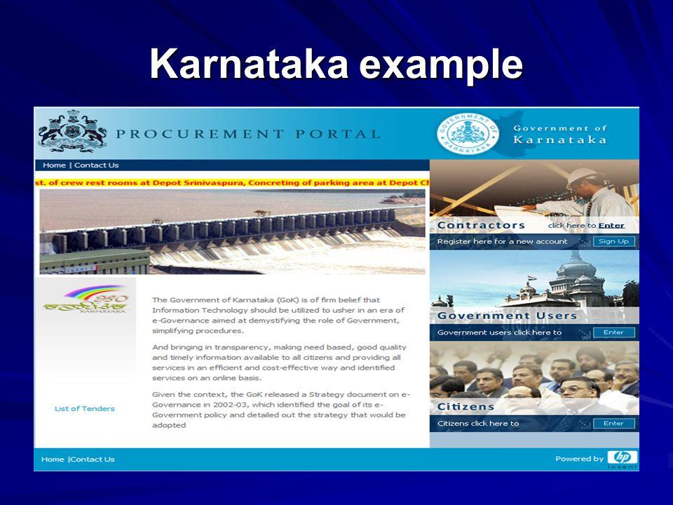 Karnataka example