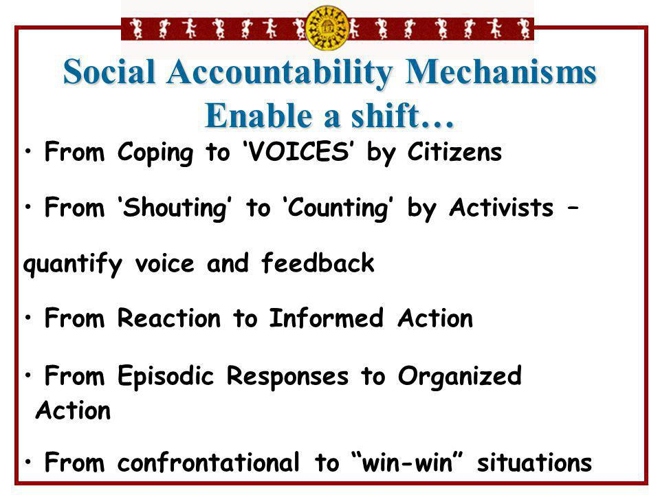 From Coping to 'VOICES' by Citizens From 'Shouting' to 'Counting' by Activists – quantify voice and feedback From Reaction to Informed Action From Epi