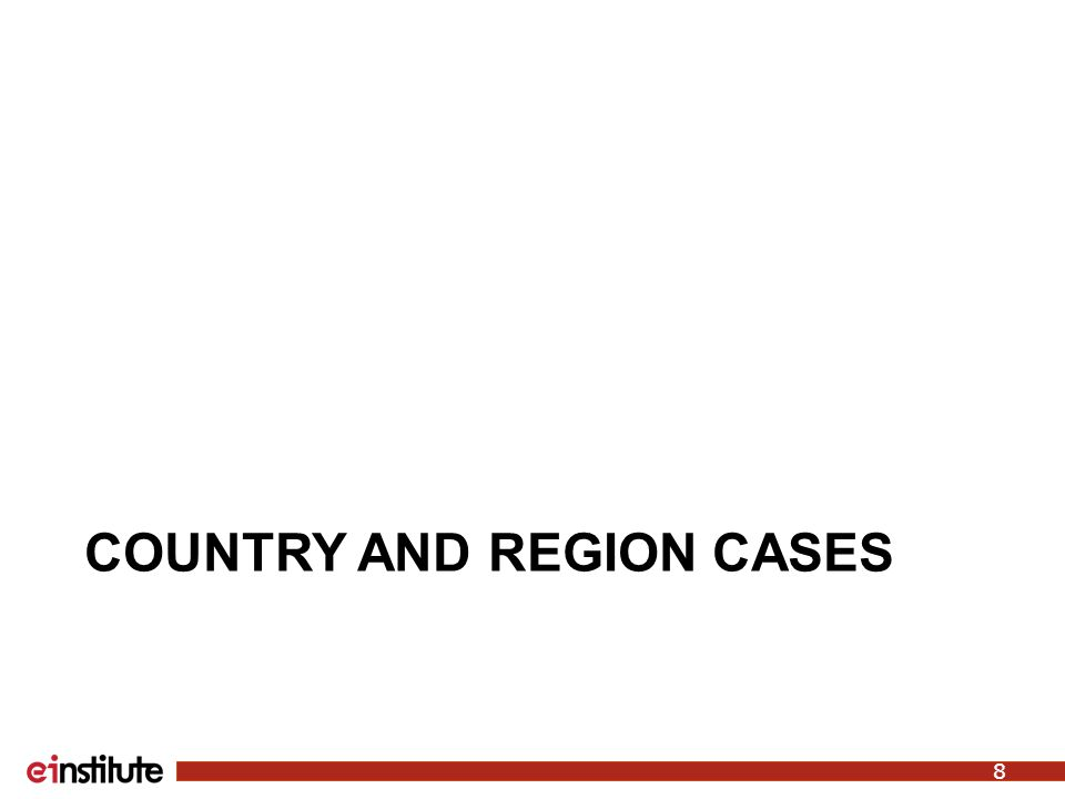 COUNTRY AND REGION CASES 8