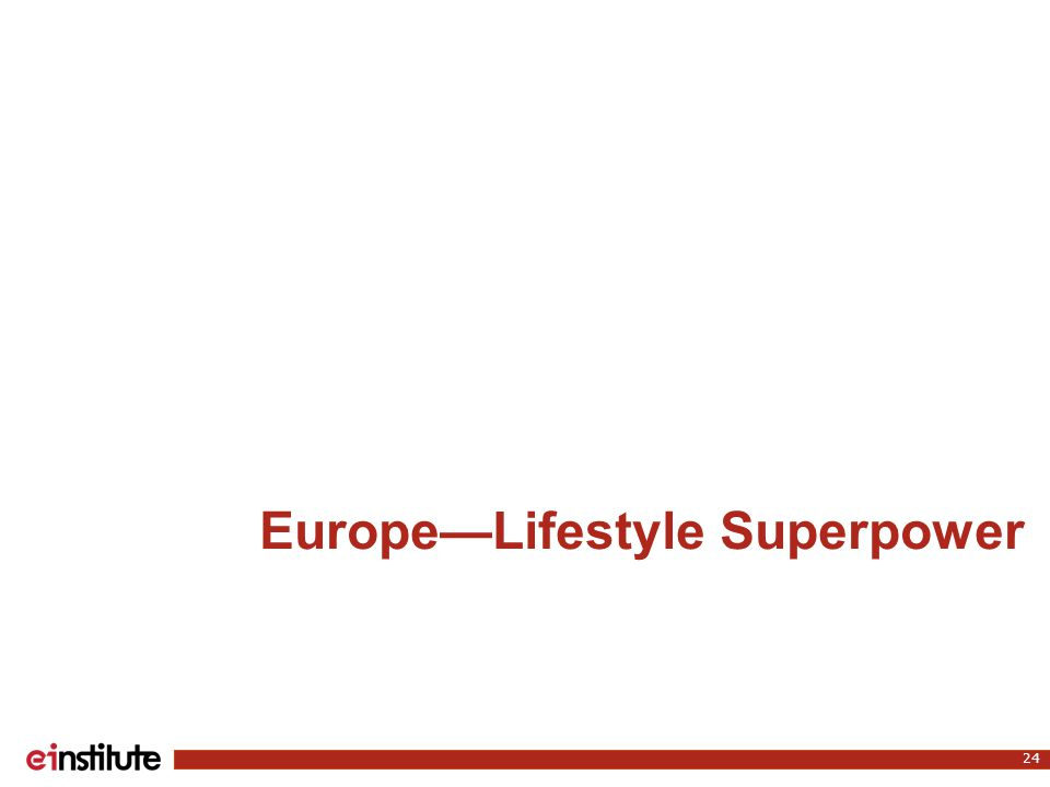 Europe—Lifestyle Superpower 24