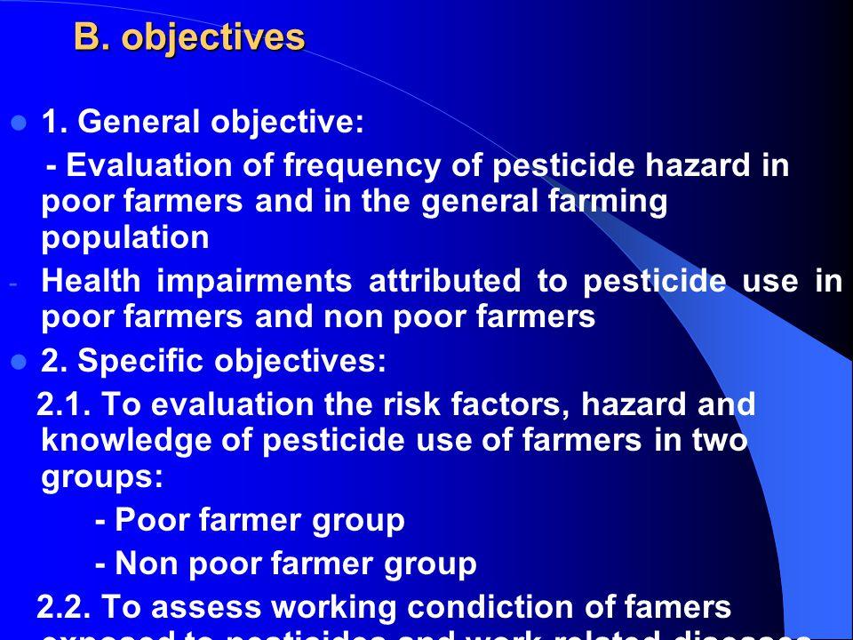 B. objectives 1.