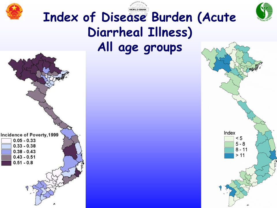 Index of Disease Burden (Acute Diarrheal Illness) All age groups