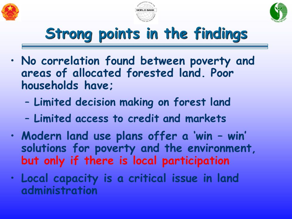 No correlation found between poverty and areas of allocated forested land.