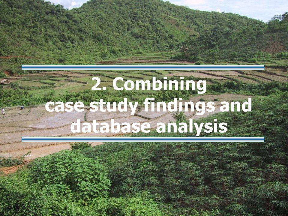 2. Combining case study findings and database analysis