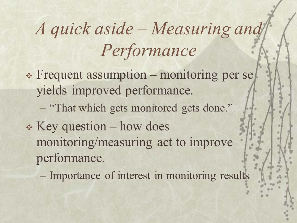 Performance Budgeting  Sub-set of performance management  Definition: Performance Budgeting = procedures to enhance link between spending and outcomes/outputs through the use of formal performance information.