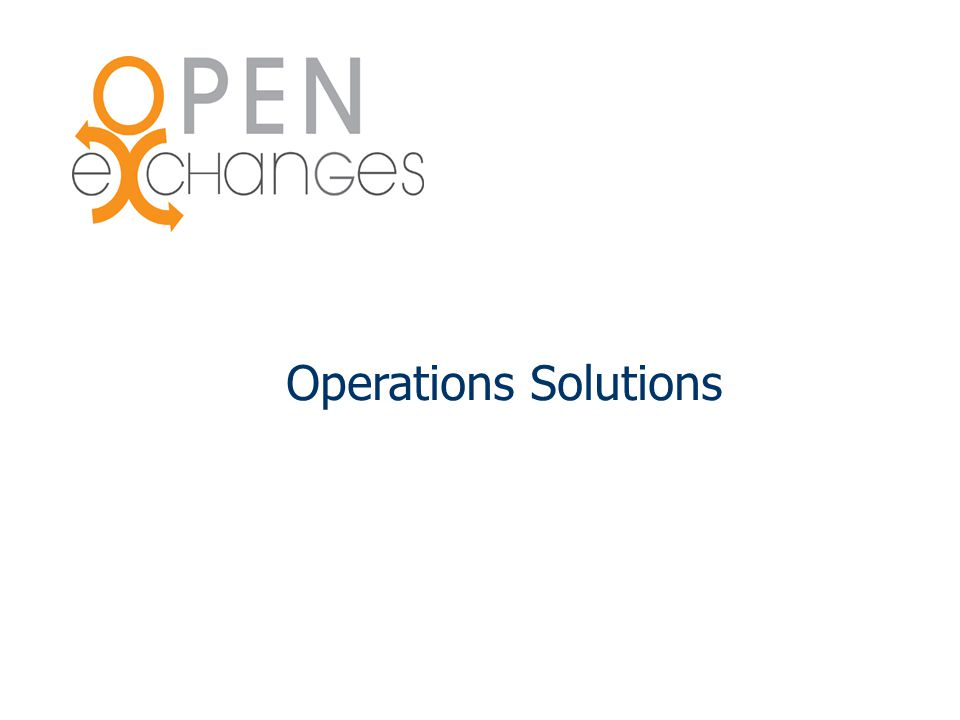 Operations Solutions