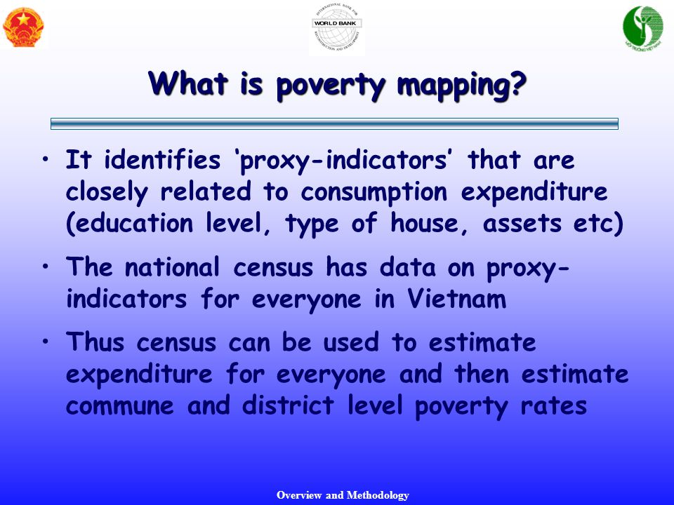 Overview and Methodology What is poverty mapping.