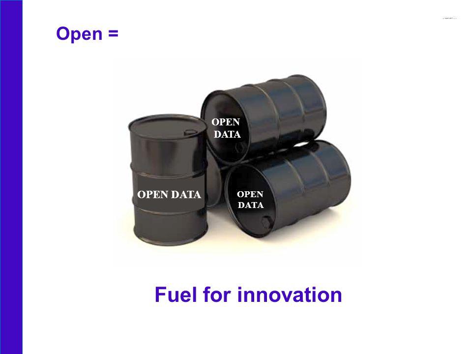 OPEN DATA OPEN DATA OPEN DATA Open = Fuel for innovation