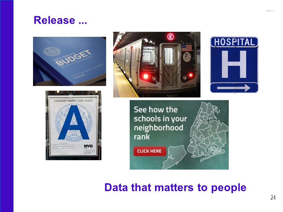 Release... 24 Data that matters to people