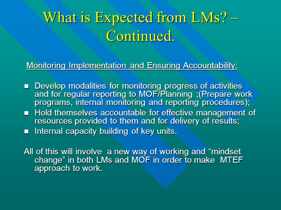 What is Expected from LMs. – Continued.