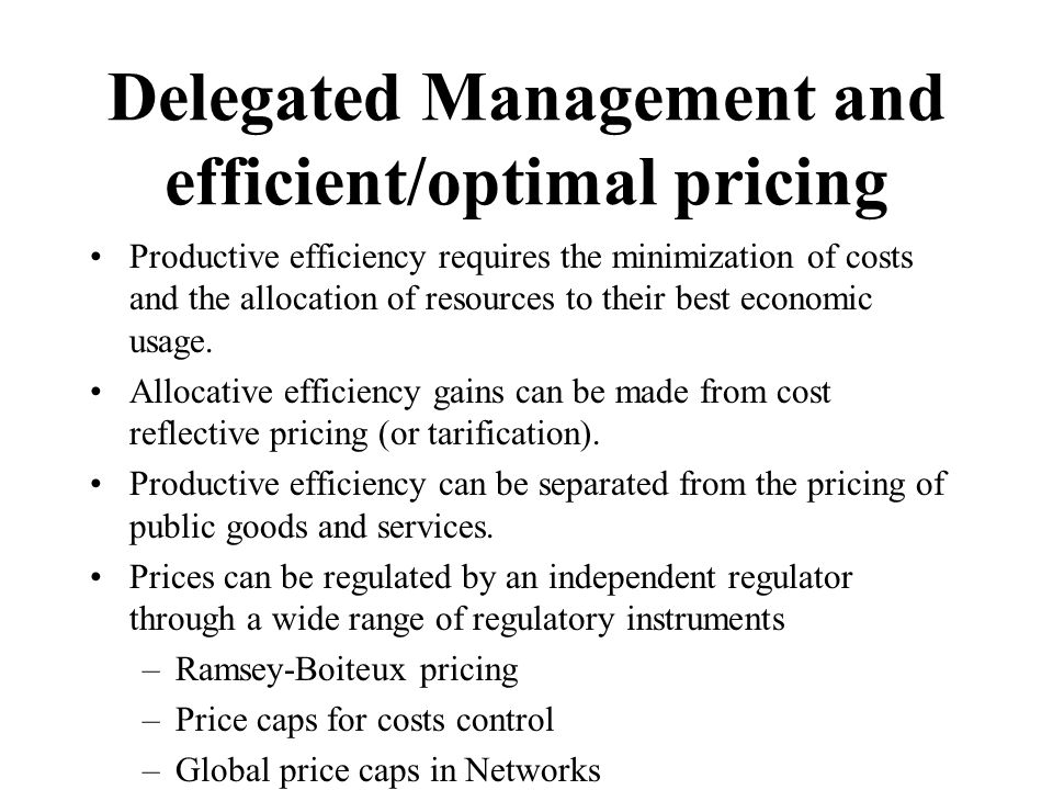 Productive efficiency requires the minimization of costs and the allocation of resources to their best economic usage.