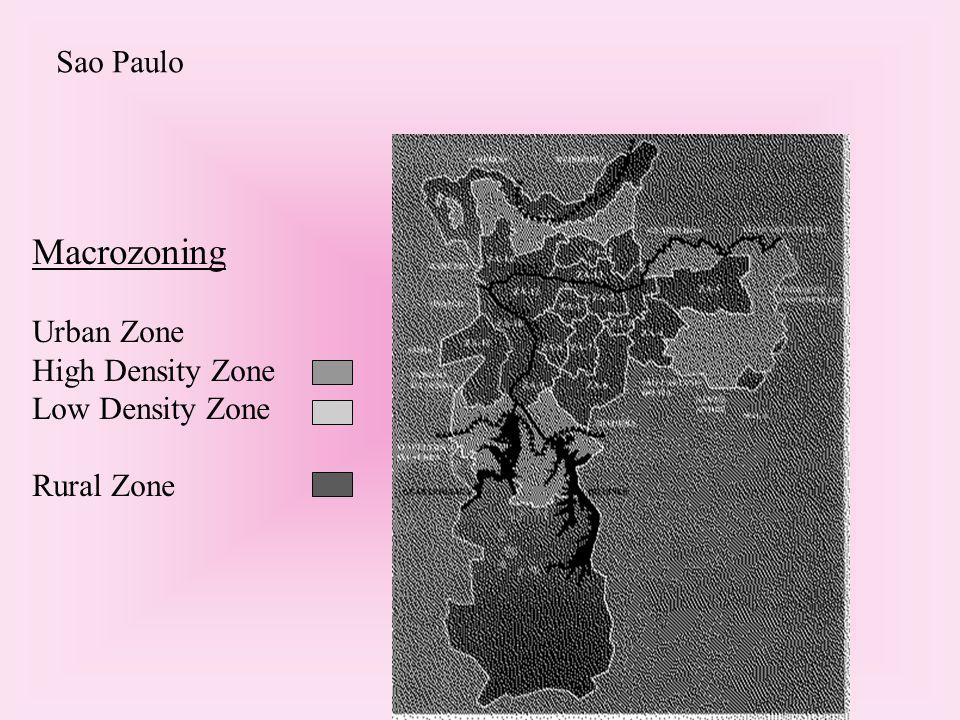 Macrozoning Urban Zone High Density Zone Low Density Zone Rural Zone Sao Paulo