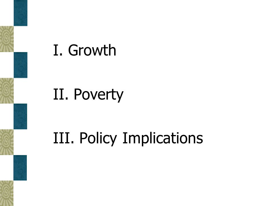 New Findings on Growth  Recent studies of effects of demographic change on growth help explain the past experience of different countries and regions (slow growth in Africa versus the burst of growth in East Asia, 1960-1995)  The demographic experience of East Asia is good news for countries on a similar path of fertility decline (e.g., Latin America and more recently, Africa)