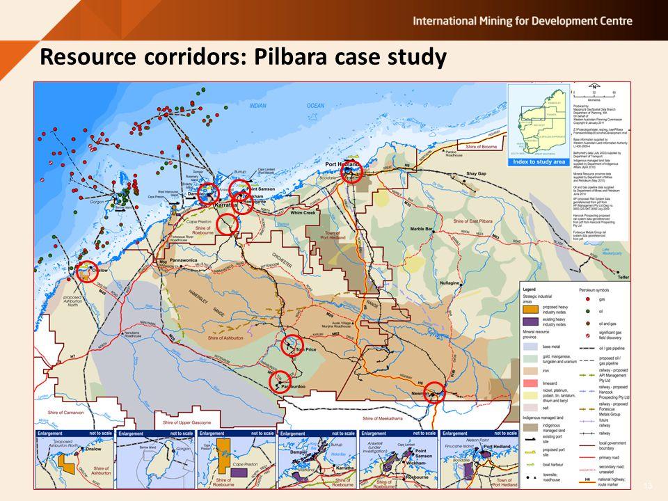 Resource corridors: Pilbara case study 13