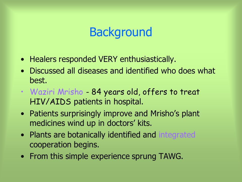 Background Healers responded VERY enthusiastically.
