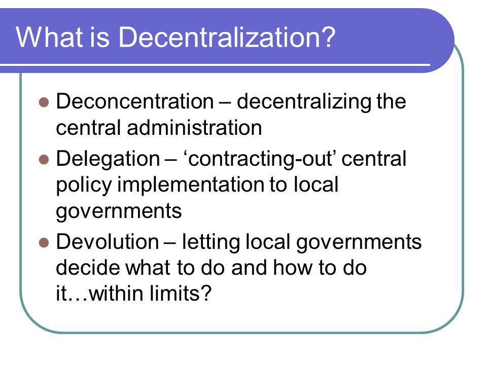 What is Decentralization.