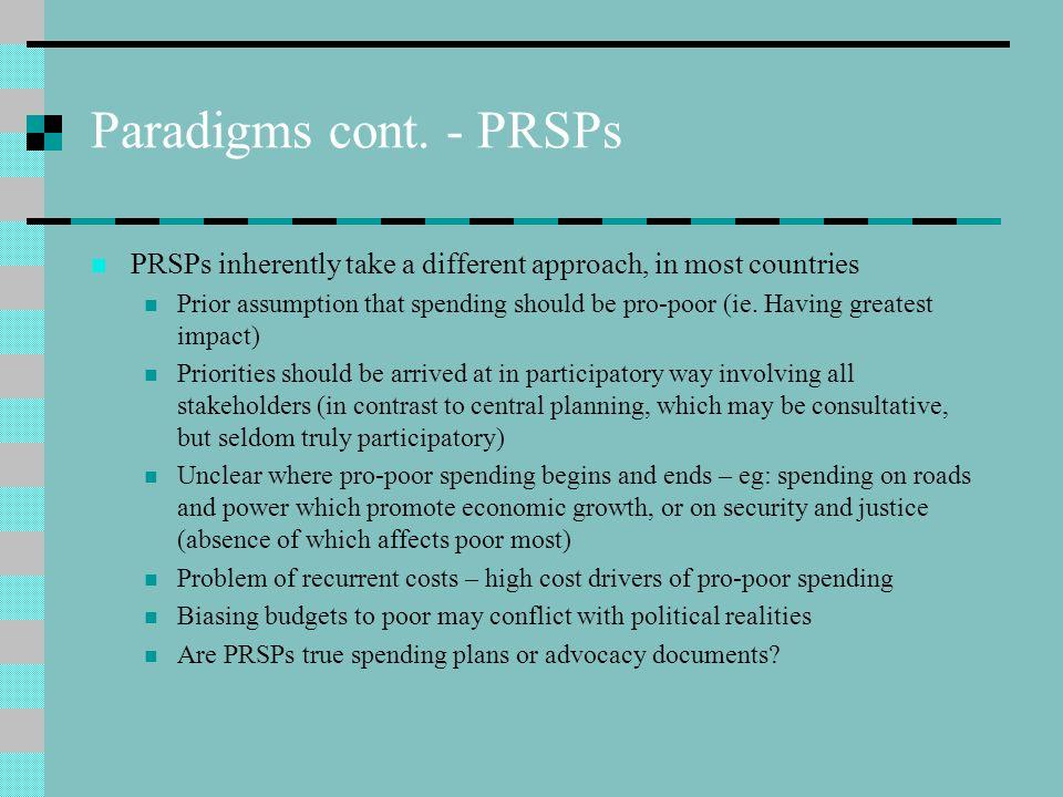 Paradigms cont.