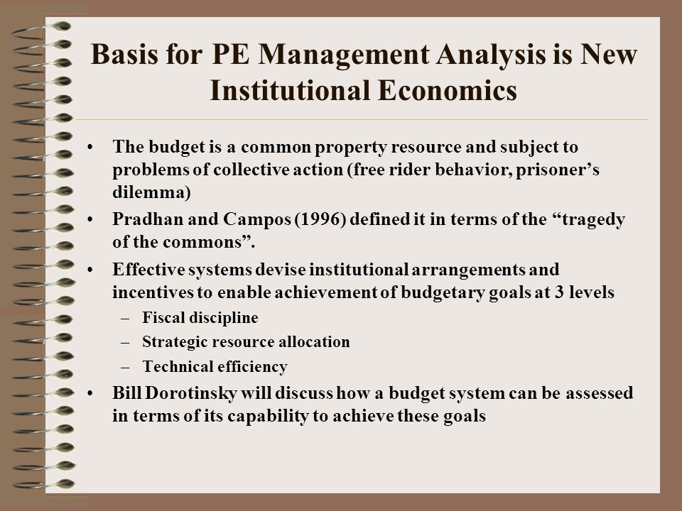 The Basis for PE Policy analysis derives from Welfare/Public Economics Competitive markets yield Pareto efficient outcomes, for any given distribution of income (Fundamental theorem of welfare economics) But state intervention may be needed when : –Lack of competition –Incomplete market –Public good (non-rivalry in consumption, non-excludability) –Externality (social cost/benefit differs from pvt.cost/benefit) –Macroeconomic instability Equity concerns provide another reason for intervention, through public finance