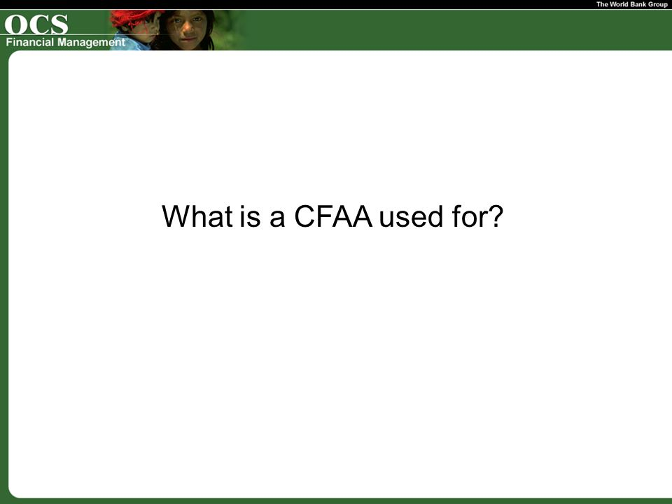 What is a CFAA used for