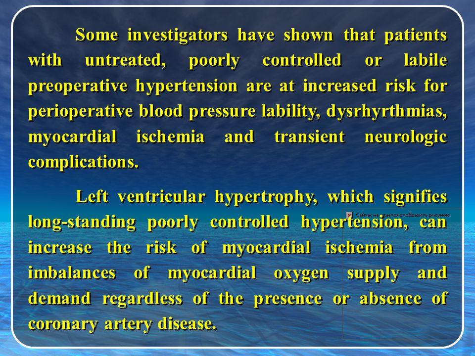 End organ damage 1.Cardiac: left ventricular hypertrophy, infarction, arrhythmias and congestive heart failure.
