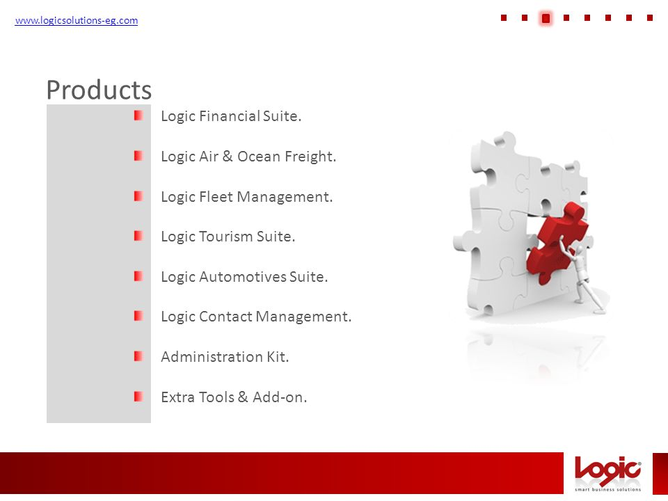 Products www.logicsolutions-eg.com Logic Financial Suite.