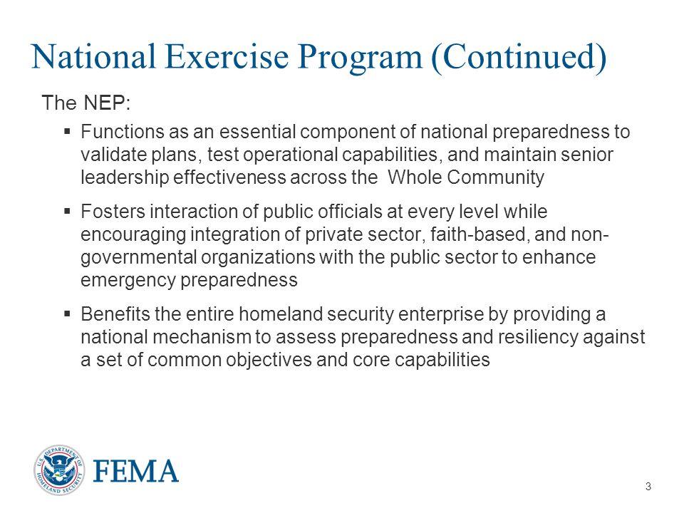 4 Background NEP was revised per U.S.