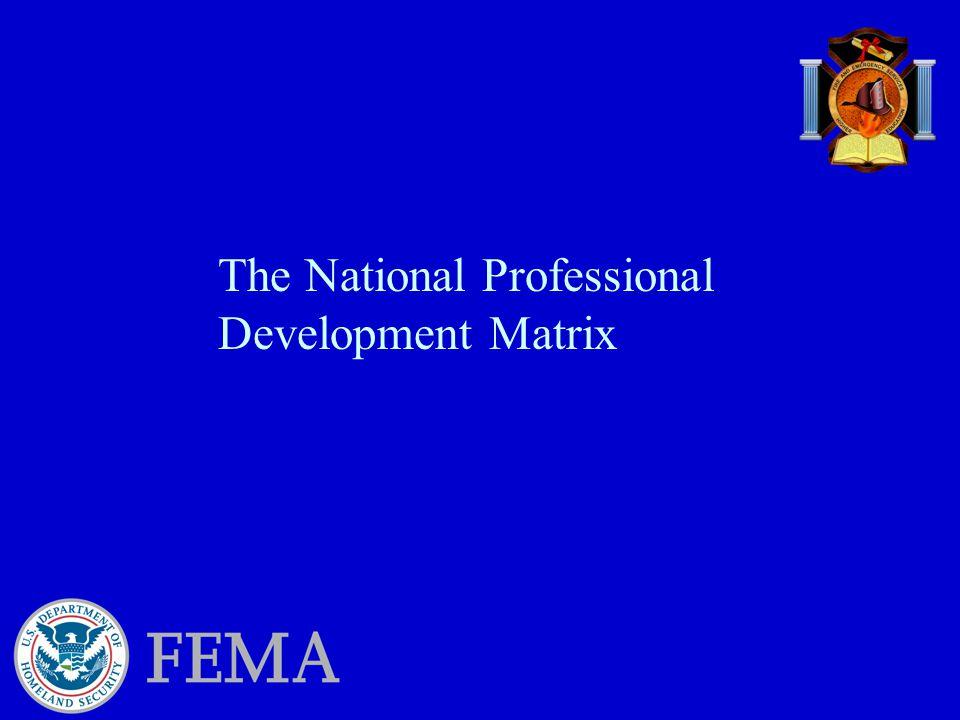 The National Professional Development Matrix