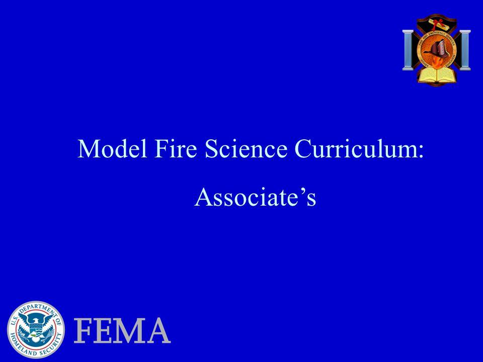 Model Fire Science Curriculum: Associate's