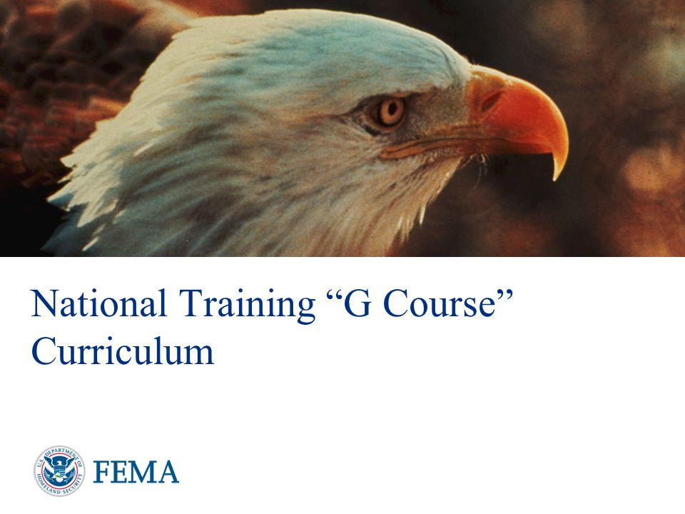 National Training G Course Curriculum