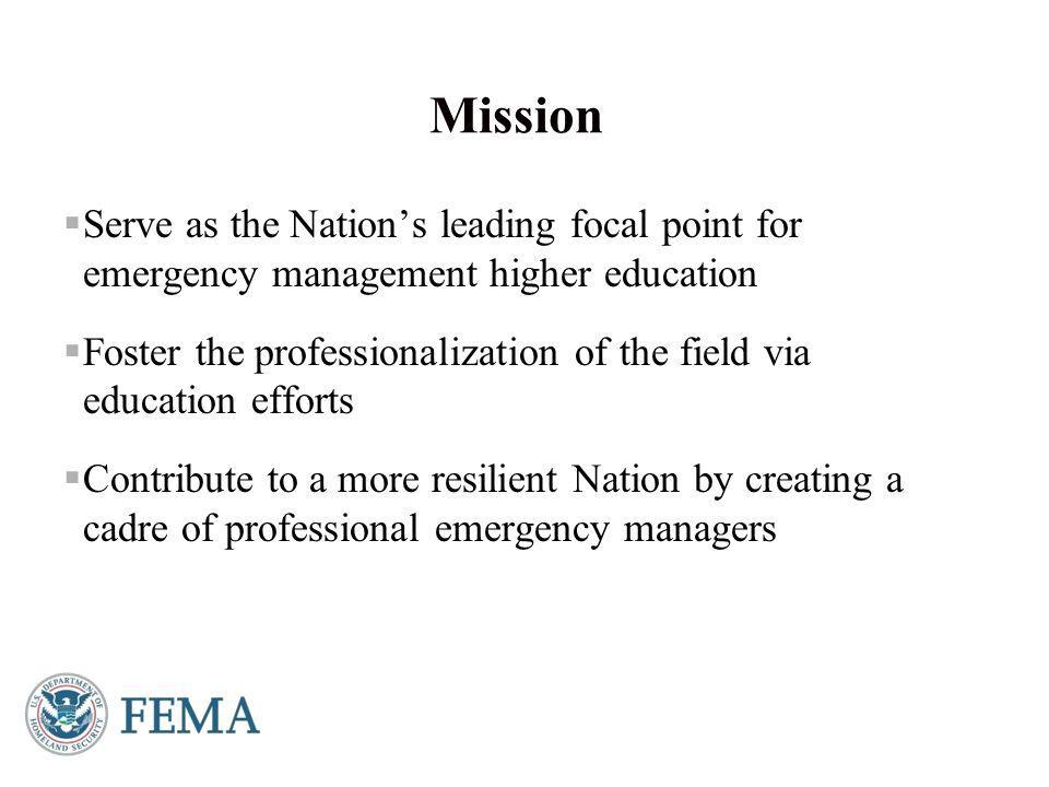 Presenter's Name June 17, 2003 FEMA Higher Education Program Contact Dr.