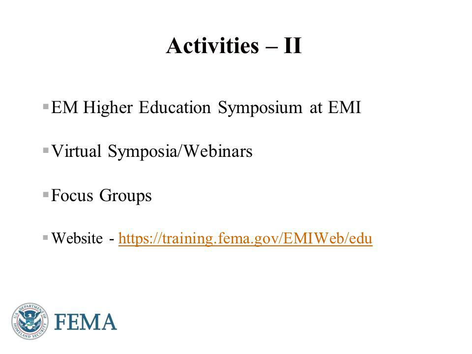  June 2-5, 2014  Workshops on June 2  Plenary and breakout sessions June 3-5  15 th EM Higher Education Conference  Approximately 400 academics and practitioners  163 U.S.