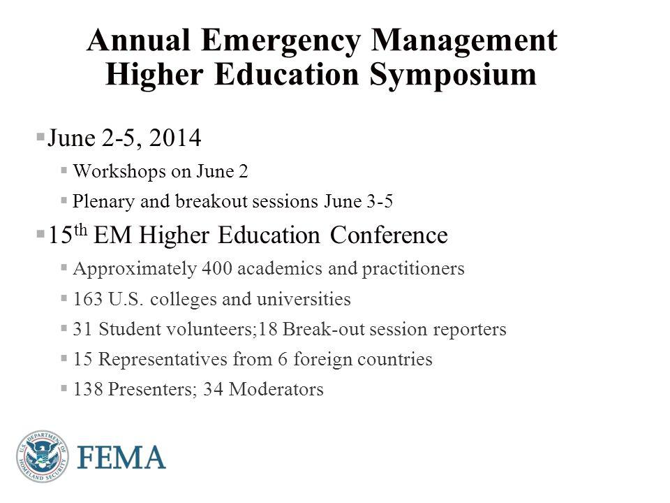 Presenter's Name June 17, 2003  Virtual format started in FY 2013  Series of four symposia  Topics of general interest to academics in EM  Opportunity for year-round discussion on topics vital to advancing higher education EM  Continues as the Higher Education Webinar series Virtual Symposia and Webinars 7