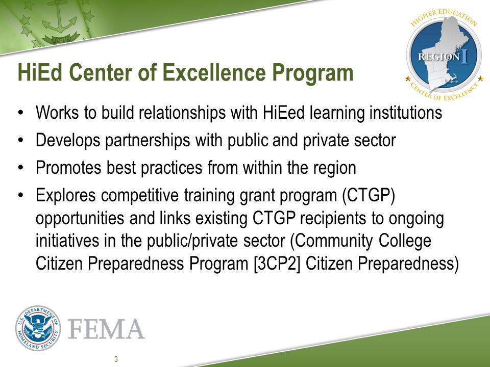 Strengthening Academic Programs FEMA Regional Office Providing subject matter expertise in Mitigation, Preparedness, Response and Recovery.