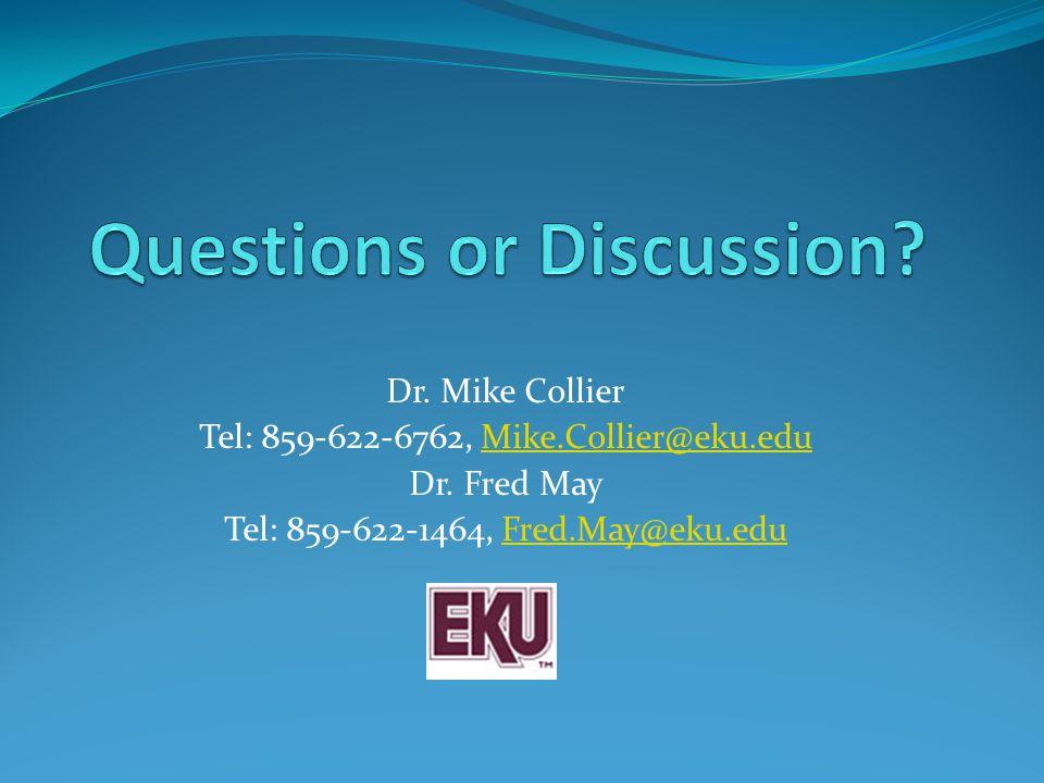 Dr. Mike Collier Tel: 859-622-6762, Mike.Collier@eku.eduMike.Collier@eku.edu Dr.