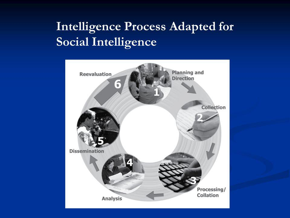 Intelligence Process Adapted for Social Intelligence