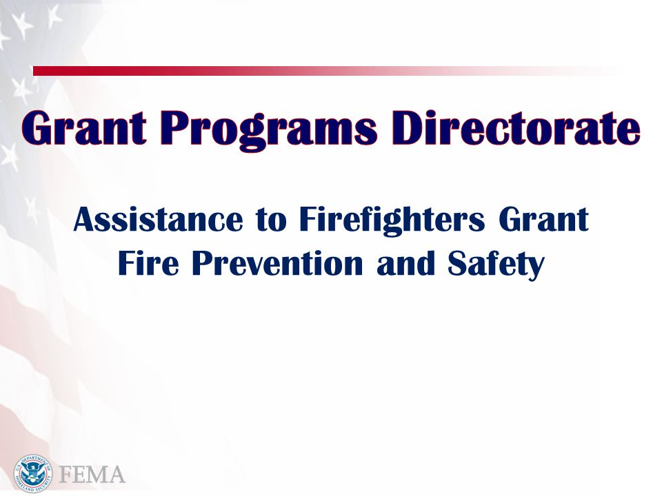 Purpose Enhance the safety of the public and firefighters with respect to fire and fire-related hazards.