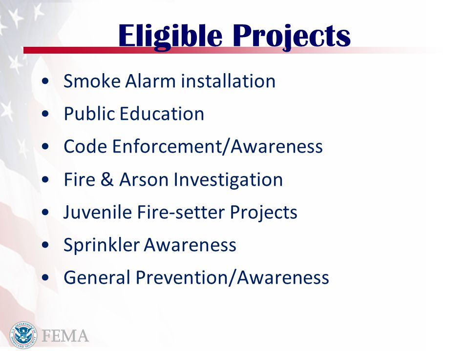 Firefighter Safety R&D Behavioral, clinical, and social science studies Database systems Technology and product development studies Research regarding Dissemination and Implementation of Effective Programs and Products