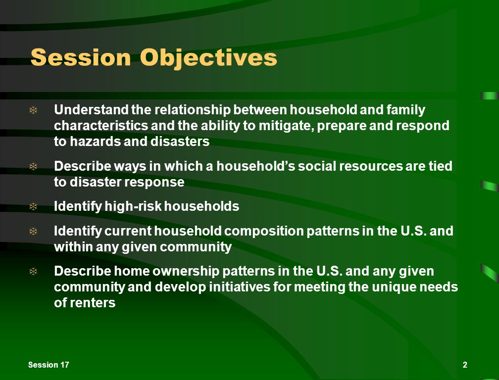 Session 1713 Selected Types of U.S.
