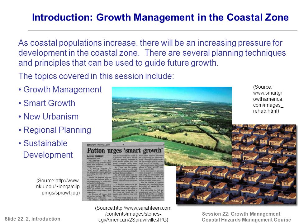 Introduction: Growth Management in the Coastal Zone Slide 22.