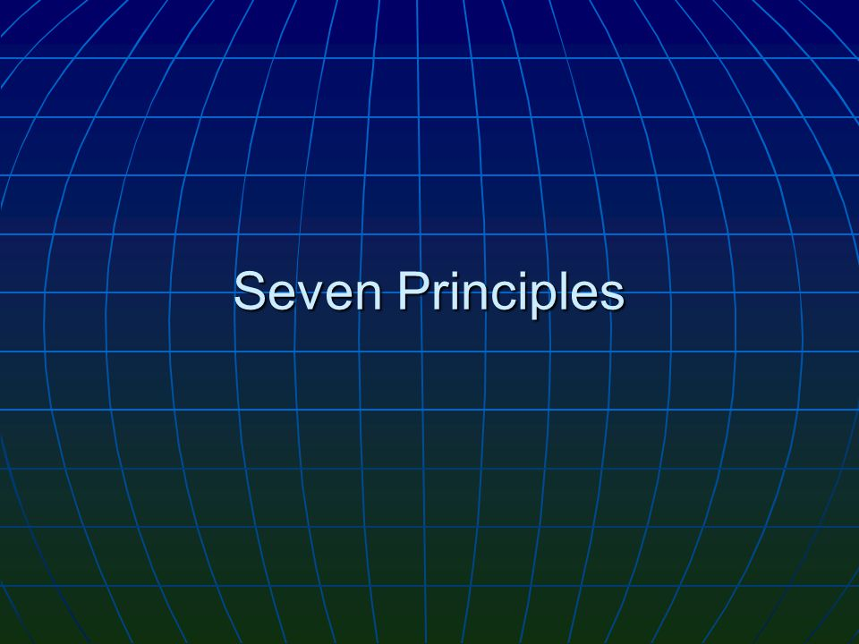 Seven Principles