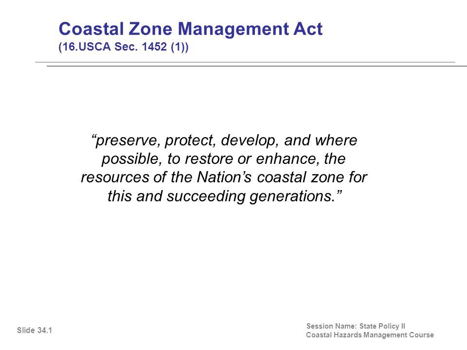 Coastal Zone Management Act (16.USCA Sec.