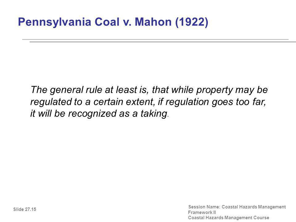 Pennsylvania Coal v.
