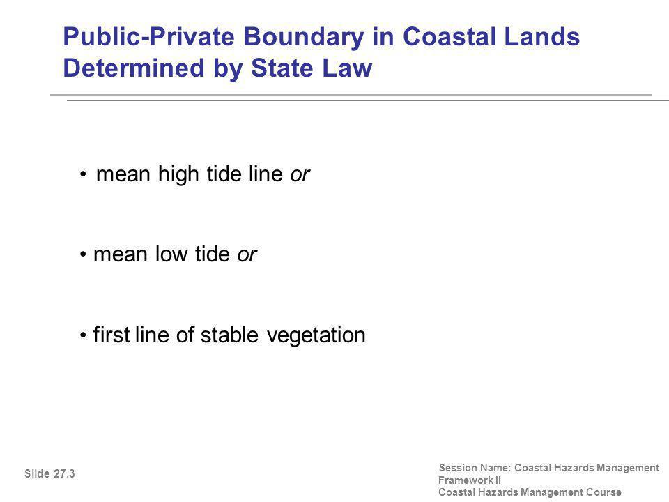 Lucas Lots, Revisited I Slide 27.24 Session Name: Coastal Hazards Management Framework II Coastal Hazards Management Course Source: William A.