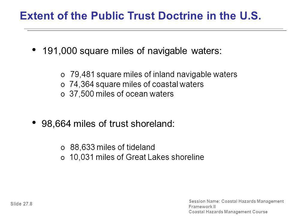 Extent of the Public Trust Doctrine in the U.S.