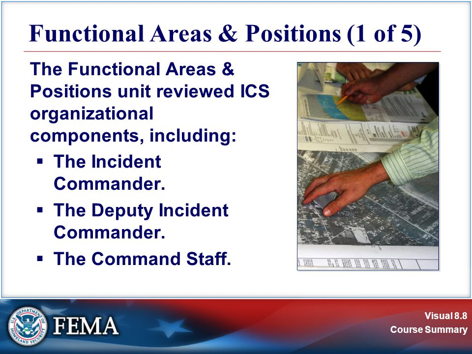 Visual 8.9 Course Summary Remember:  An Agency Representative is an individual assigned to an incident from an assisting or cooperating agency.