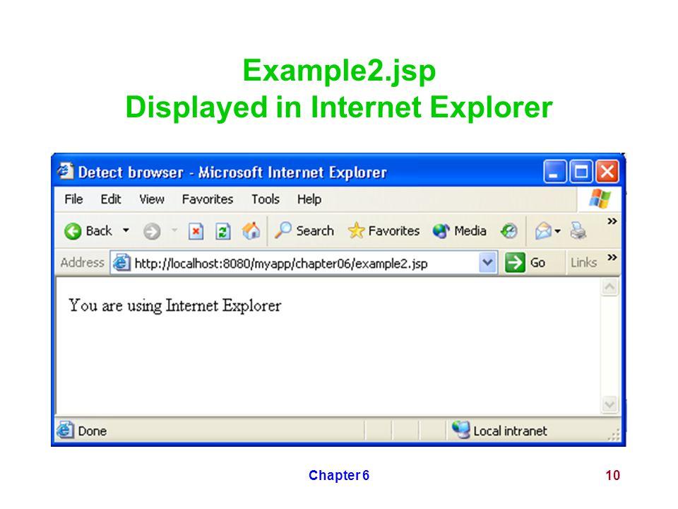 Chapter 610 Example2.jsp Displayed in Internet Explorer